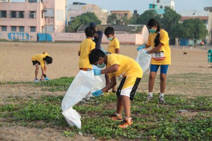 Cleanliness Drive at KC High - Among Top 10 Schools in Chennai, Navallur OMR