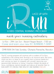 iRun KC High Kids Central Running Program Chennai IGCSE School