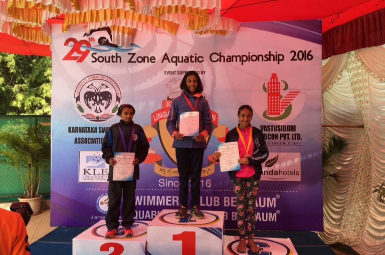 KC High Student Shriya Nandini - Swimming Achievement in the South Zone Junior Aquatics Championship held at Belgaum, India