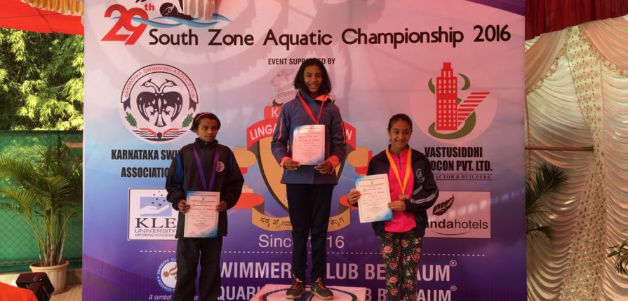 KC High Student Shriya Nandini - Swimming Achievement in the South Zone Junior Aquatics Championship held at Belgaum, India