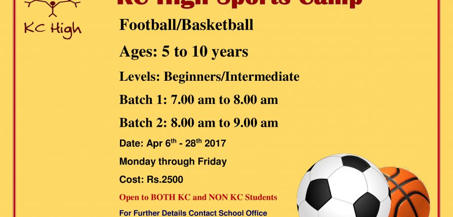 KC High Summer 2017 Sports Camp Chennai