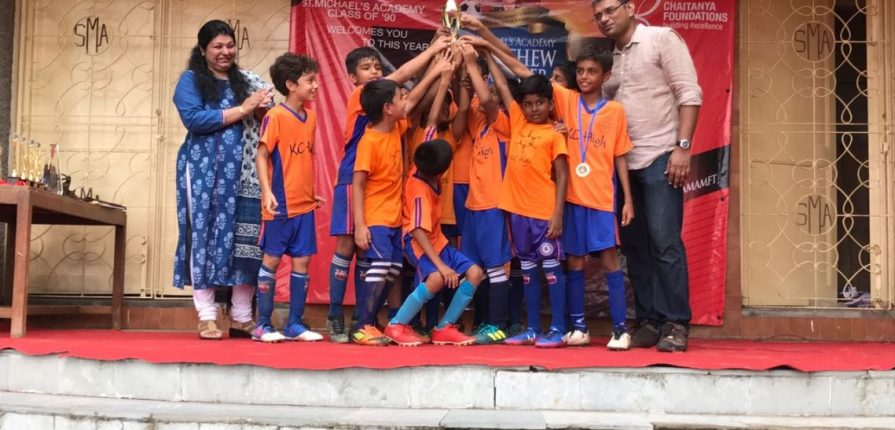 KC High - St Michaels School Under-10 Football Tournament 2017 Runners Up