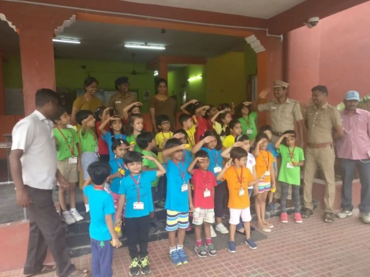 KC High Grade 1 visit to Kotturpuram police station - 2