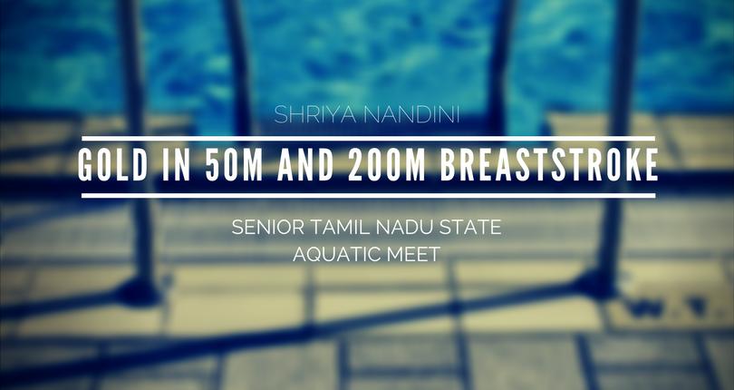 KC High swimmer Shriya Nandini shines at the Senior TN State aquatic meet