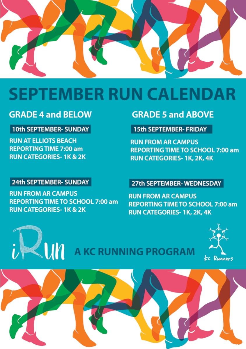 KC High iRun Program Schedule Sept 2017