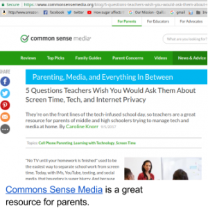 common sense media is a great resource for parents