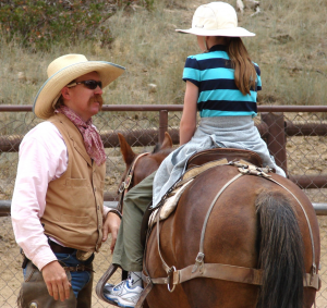 Teachers of a dangerous skill, such as riding a horse, know the importance of being supportive. Image credit: Don Graham