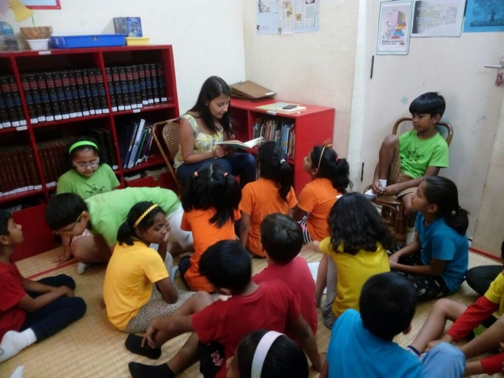 KC High parents enthrall the children with storytelling sessions during library time