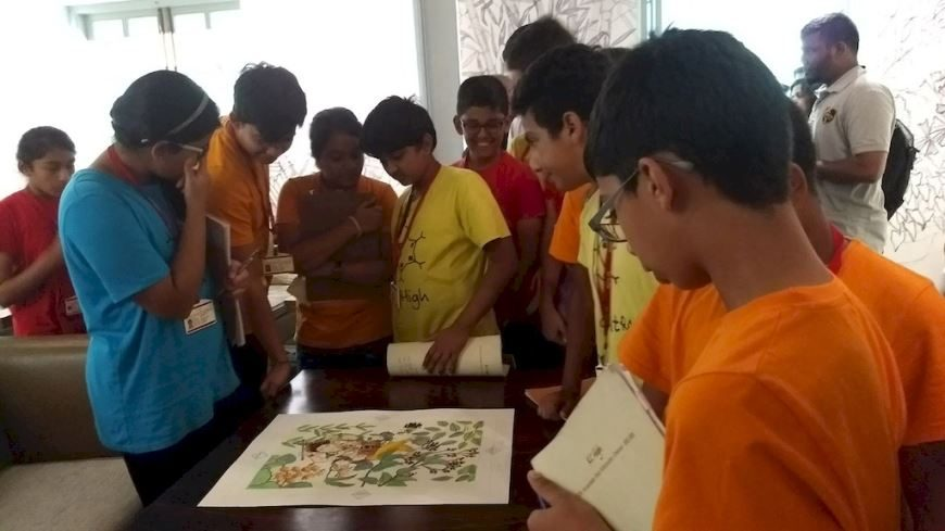 KC High Grade 7 students at Amethyst with Artist Olaf Van Cleef and Historian Pradeep Chakravarthy - 6