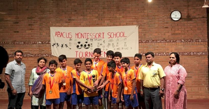 KC High U-12 Team Emerge Winners at Abacus Inter-School Football Tournament 2017 - 11