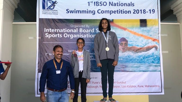 Shriya Nandini Prasad Excels at the International School Board Swimming Meet 2018