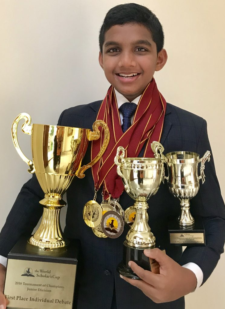 Aadi Sai of KC High International School Wins World Debate Championship