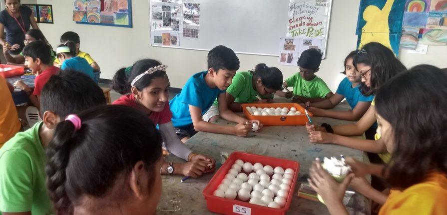 KC High International School Chennai Grade 5 students help recycle along with Peek-a-boo patterns
