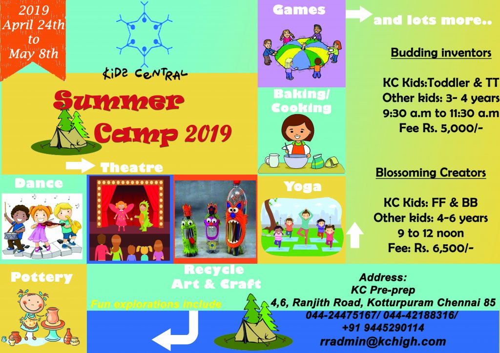 Kids Central KC Pre-Prep Summer Camp 2019 Kotturpuram Chennai