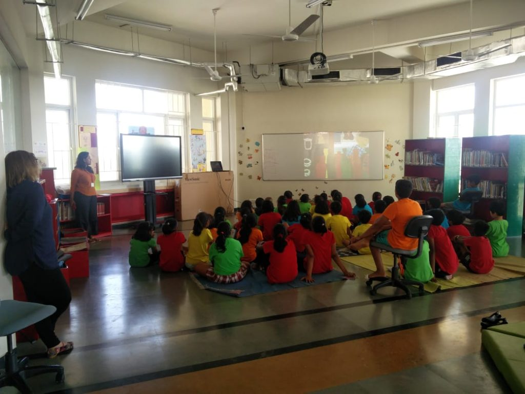 KC High grade 5 and 6 students interaction with Nina Sabnani