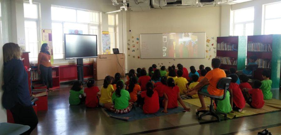 KC High grade 5 and 6 students interaction with Nina Sabnani