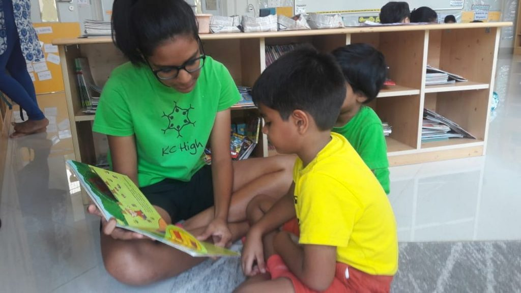 KC High International School Chennai Inter-grade Buddy Reading
