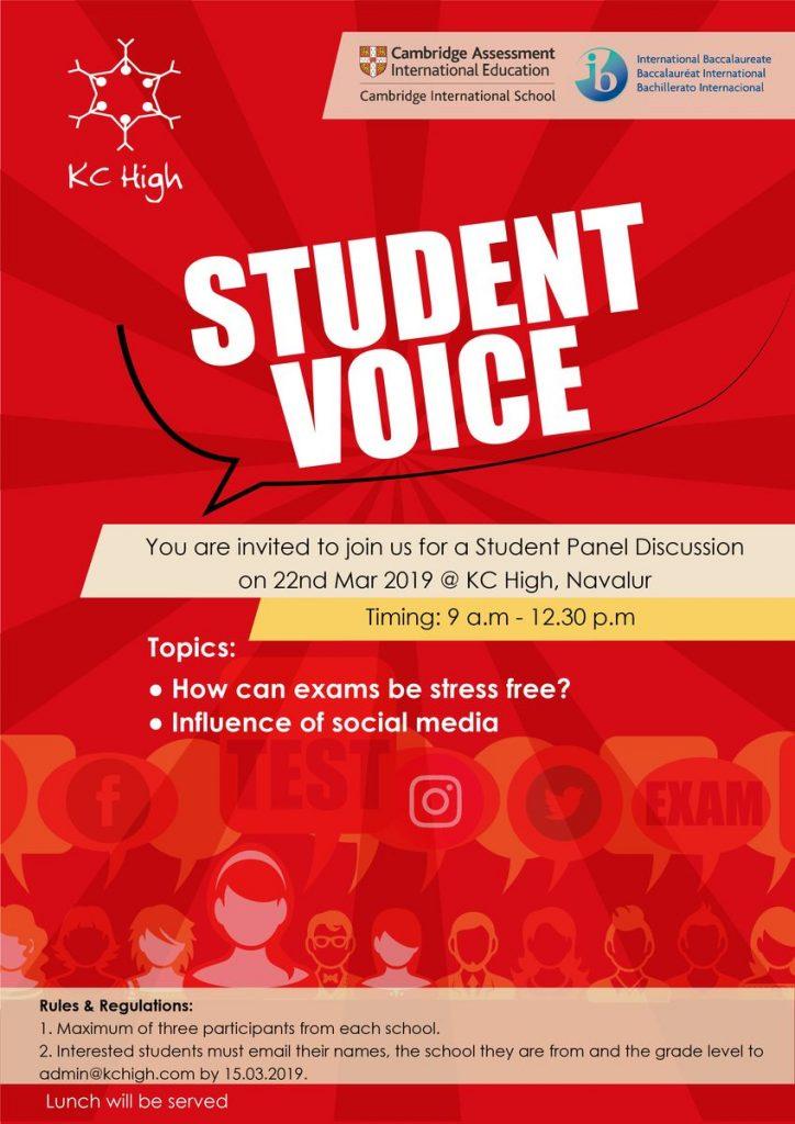 Student Voice 2019 - KC High IGCSE and IB Board International School