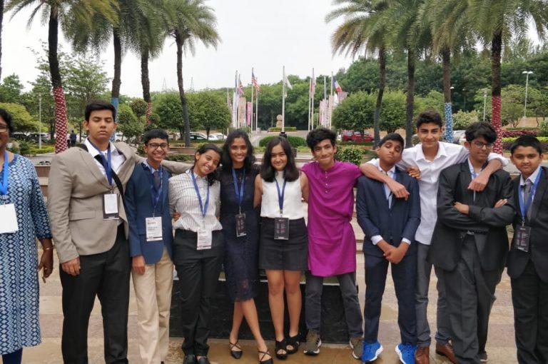 KC High International School students participate in Harvard Model United Nations (HMUN) India 2019