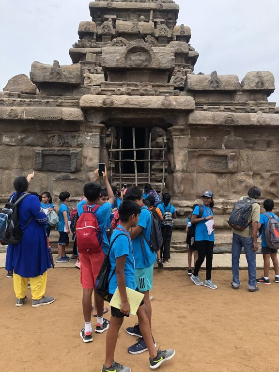 KC High International School Navalur OMR Chennai Grade 6 Trip to Mamallapuram